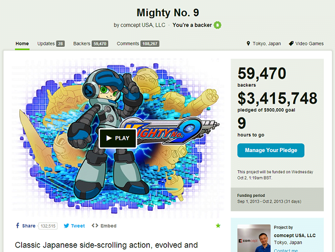 mighty number 9 kickstarter