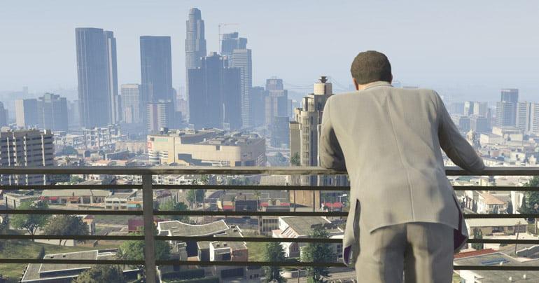 Grand Theft Auto V skyline