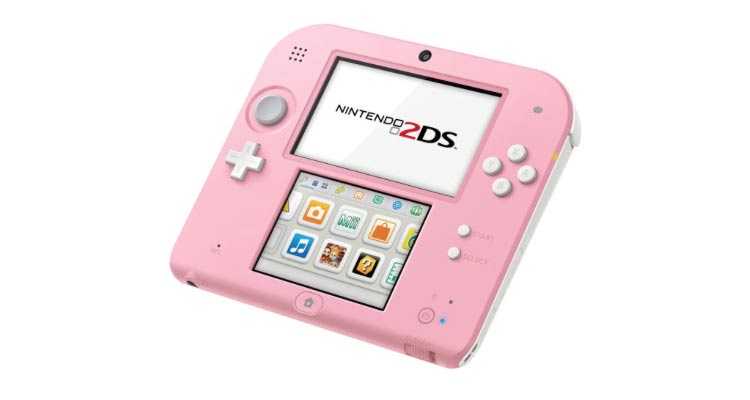 Nintendo 2DS Pink+White