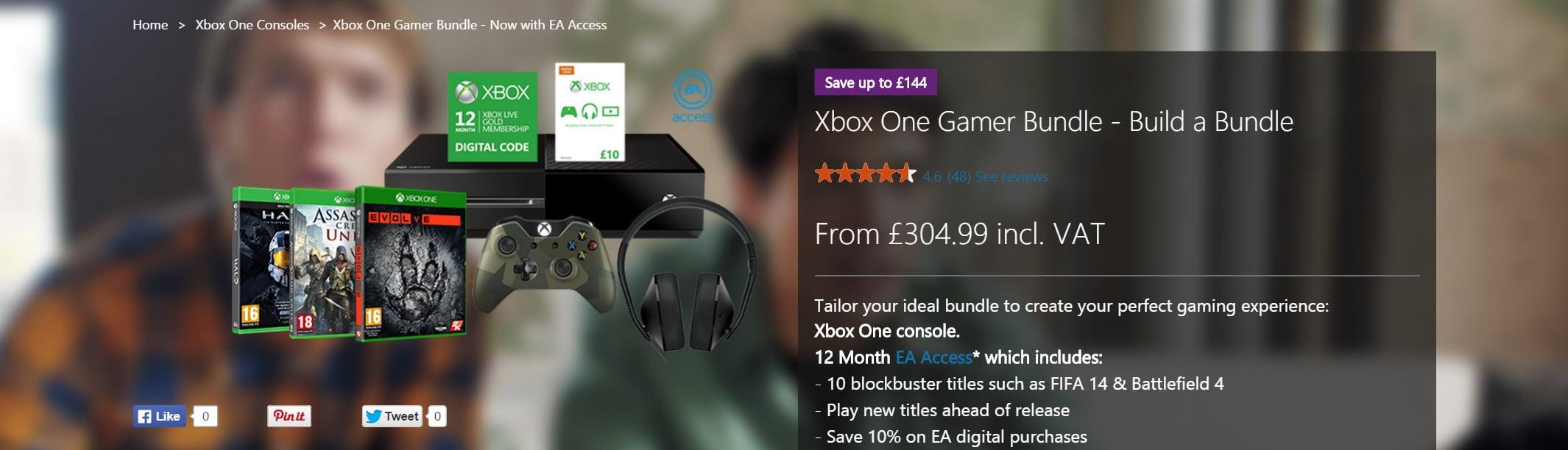 Xbox One Gamer Bundle