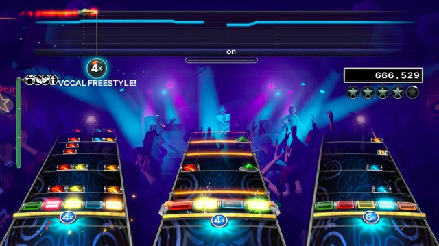 Rock Band 4 vocal freestyle