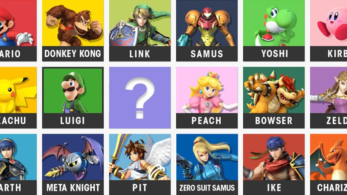 Super Smash Bros Ballot Character