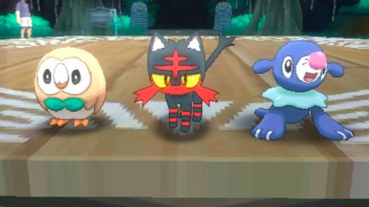 New starter Pokemon - Pokemon Sun and Moon