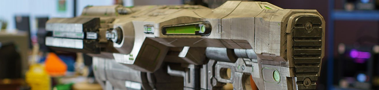 Life-size 3D-printed BFG 9000 from Doom