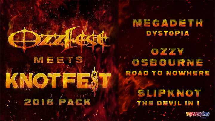 Rock Band 4 - Ozzfest meets Knotfest 2016 Pack