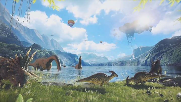 ARK Park virtual reality dinosaurs