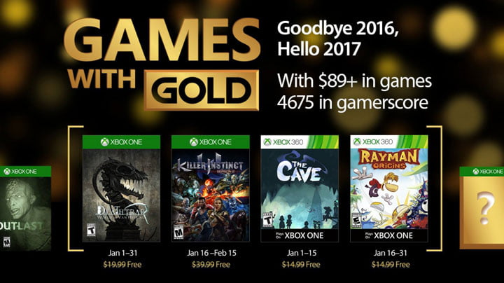 Xbox Games with Gold - January 2017