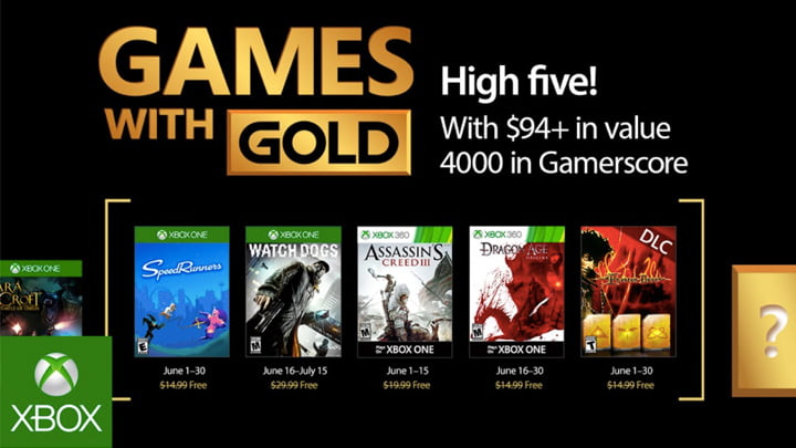 Xbox Games With Gold - June, 2017.