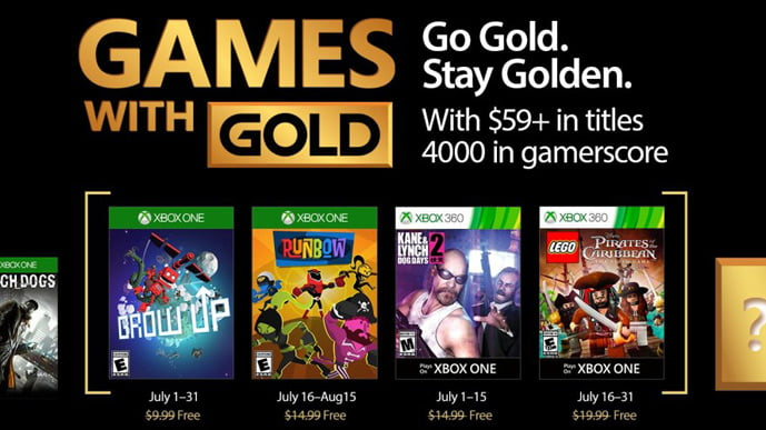 Xbox Games With Gold -July 2017