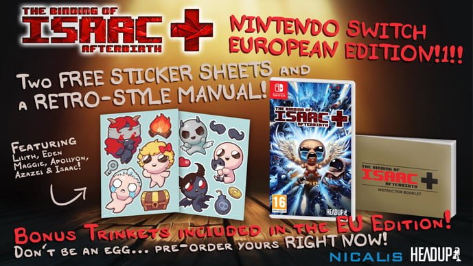 The Binding of Isaac: Afterbirth+ EU edition