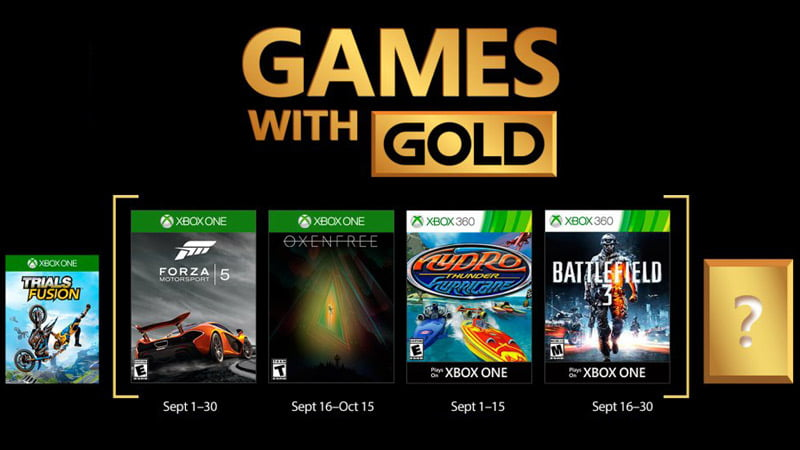 Xbox Games With Gold - September 2017