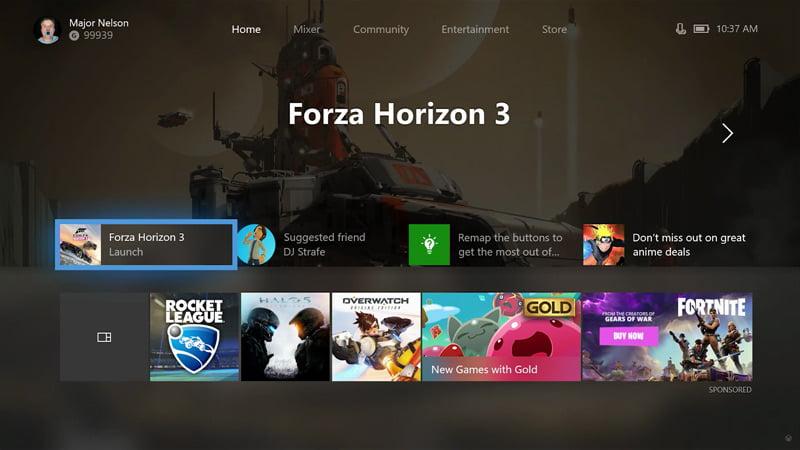 Xbox update - Fall 2017