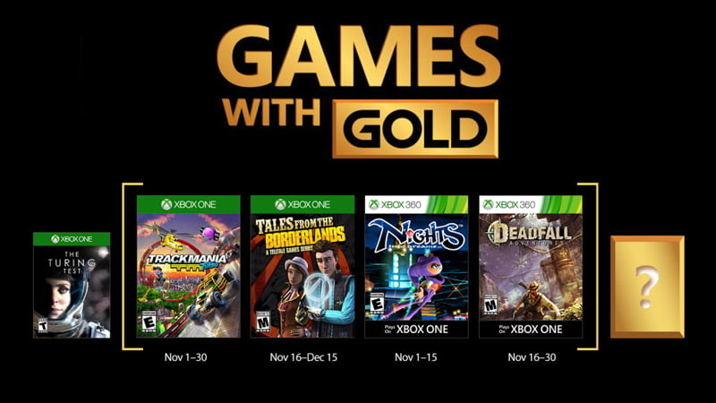 Xbox Games with Gold - November 2017