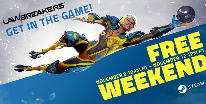 LawBreakers free weekend