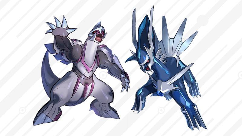 Legendary Pokémon Palkia and Dialga