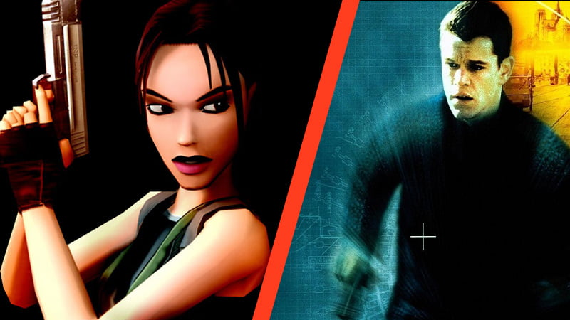 Lara Croft and Jason Bourne