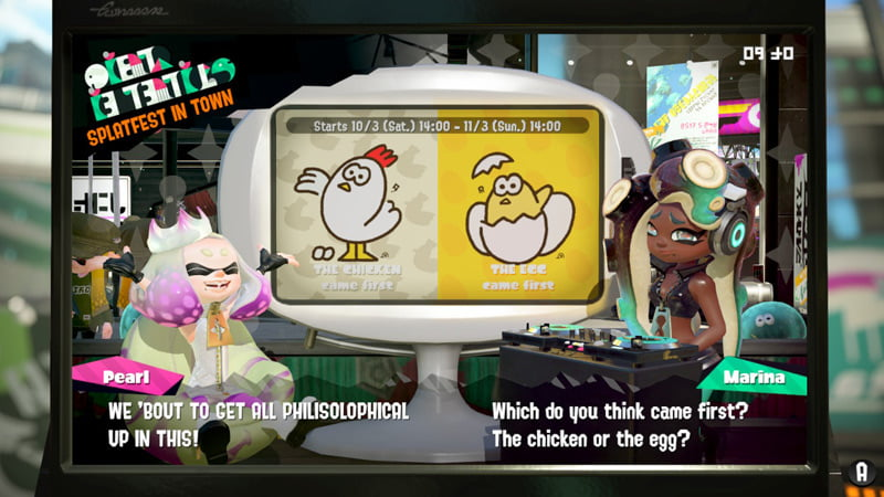 Splatoon 2 splatfest - chicken v egg