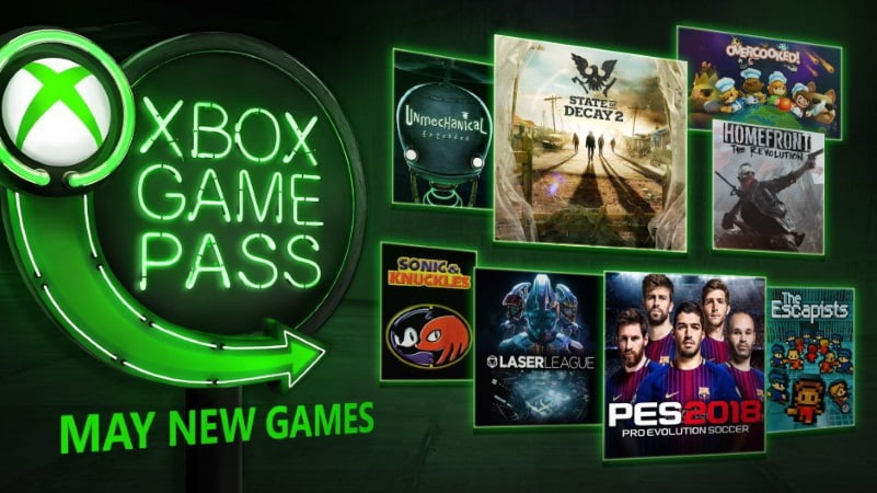 Xbox Game Pass May 2018
