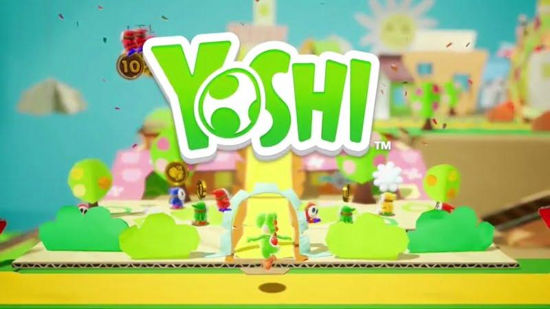 cardboard Yoshi Switch game