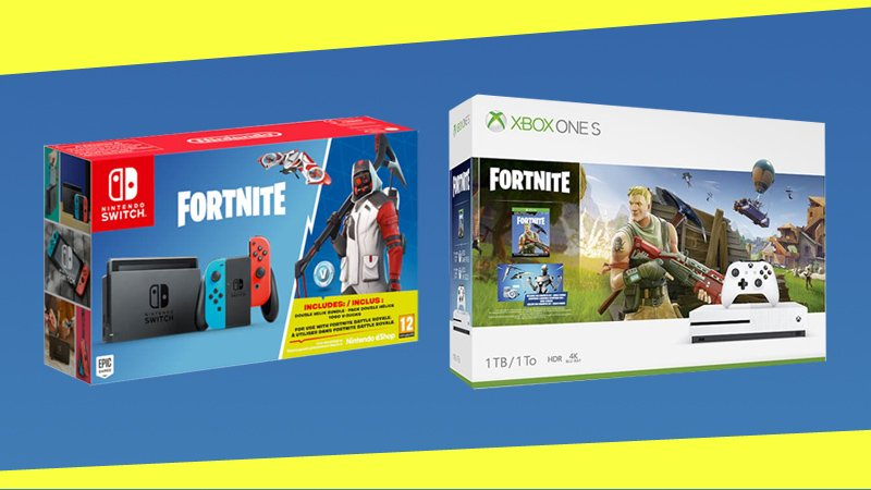 two new xbox one and nintendo switch fortnite console bundles - black friday nintendo switch fortnite