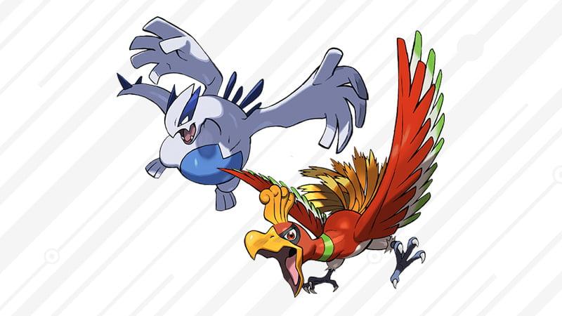 Legendary Pokémon Ho-Oh and Lugia