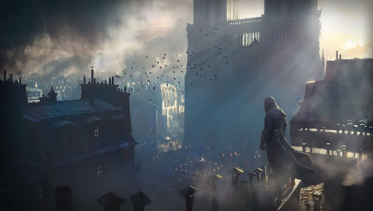 Ubisoft Notre-Dame Assassins Creed Unity concept art
