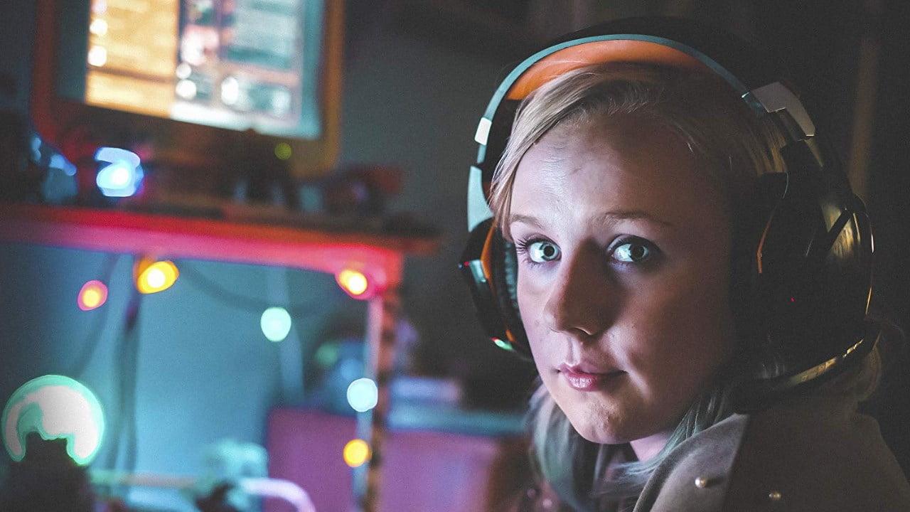 Dead Pixels Meg wearing headset