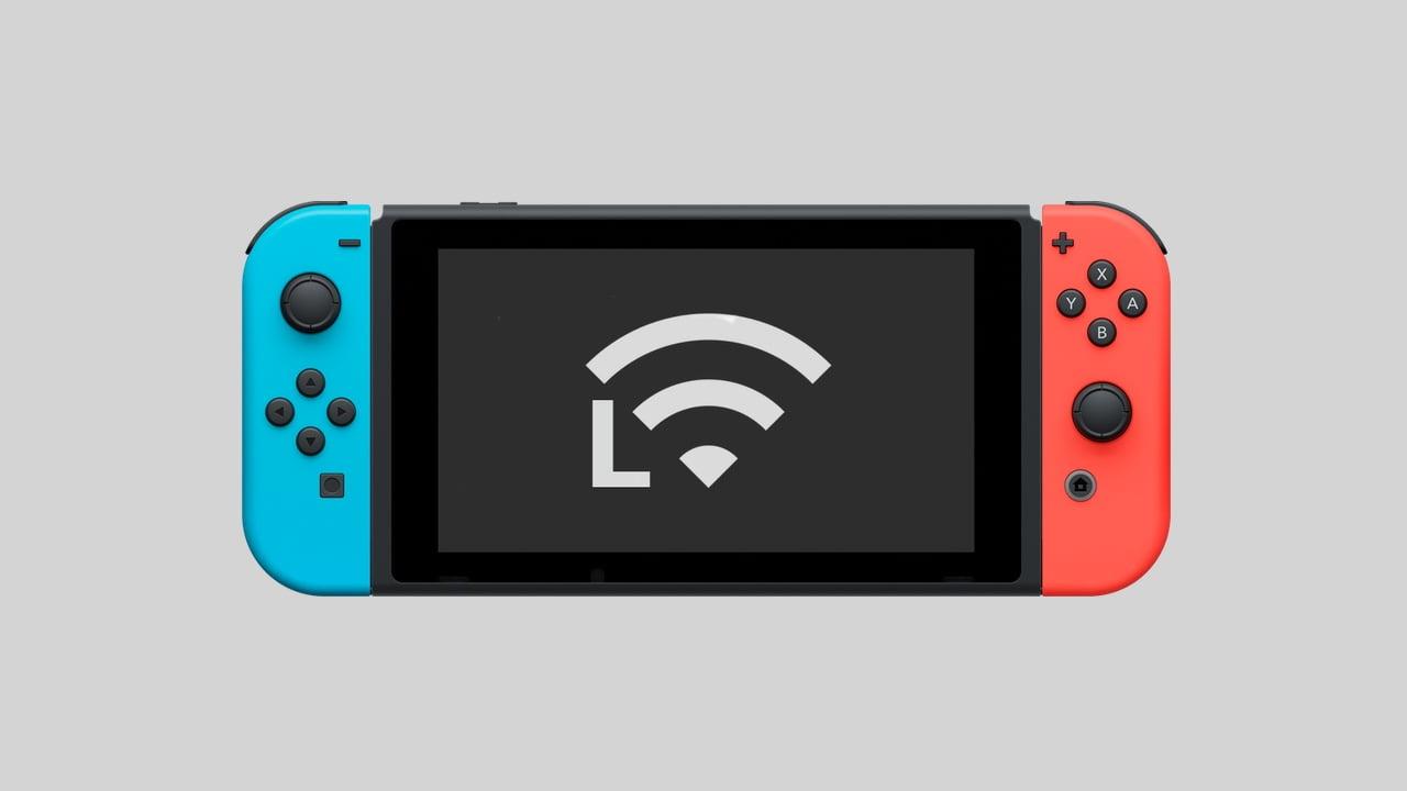 Nintendo Switch L character Wi-Fi symbol
