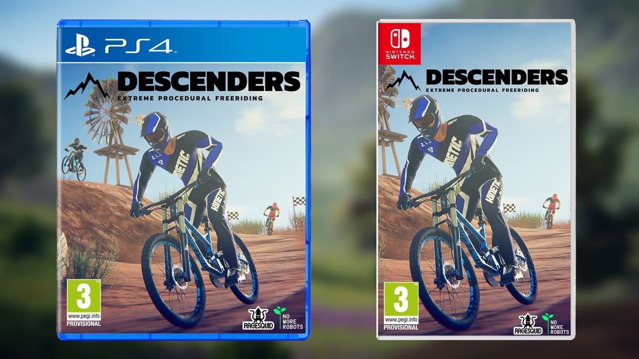 Descenders physical release PS4 Nintendo Switch packshot