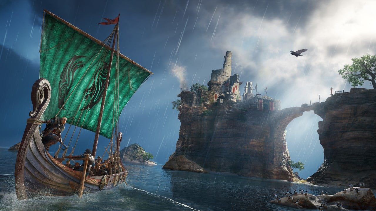 Assassin's Creed Valhalla screenshot female protagonist boat