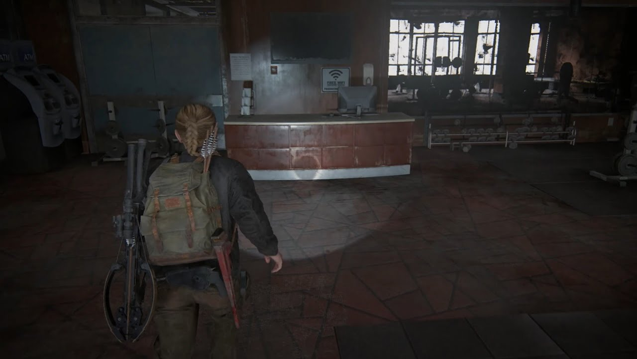 The Last of Us Part II hotel gym safe code