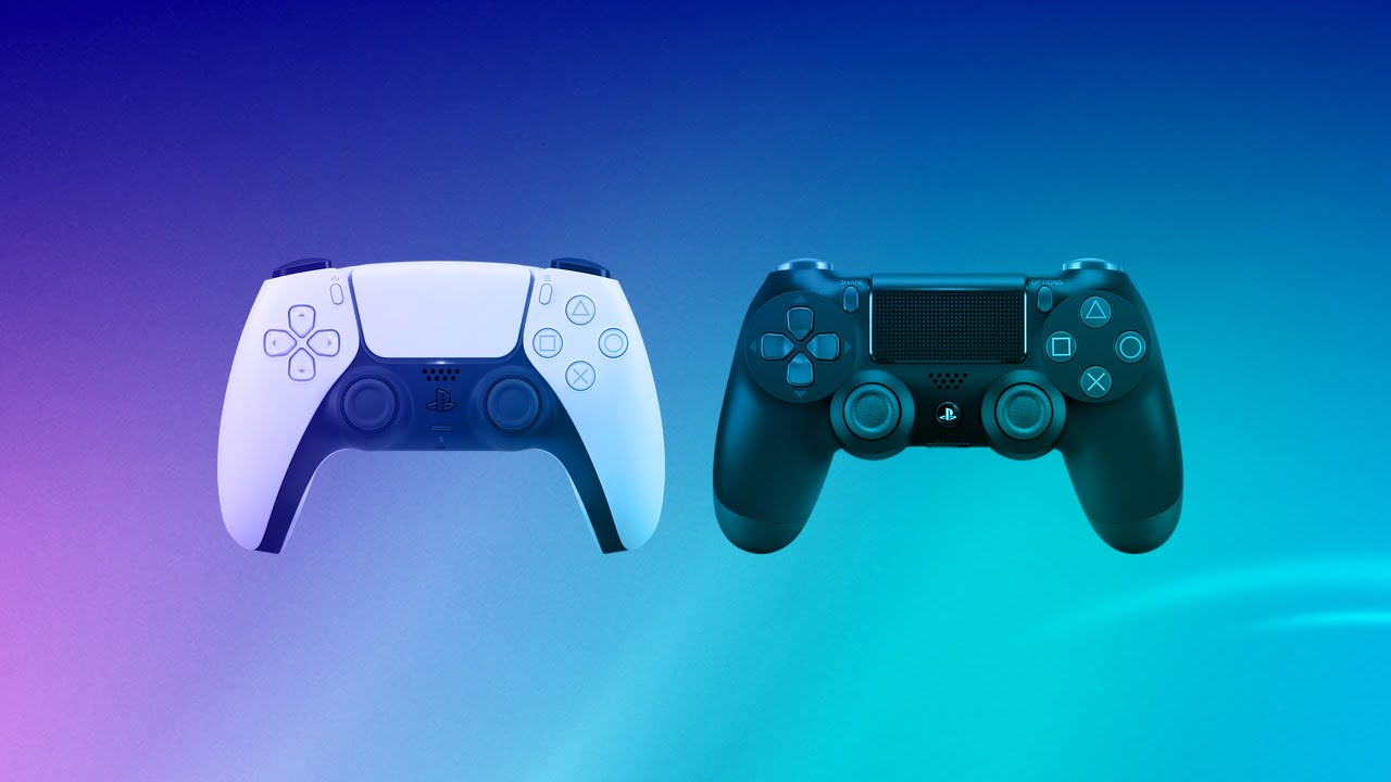 PlayStation 5 - DualShock 4 and DualSense