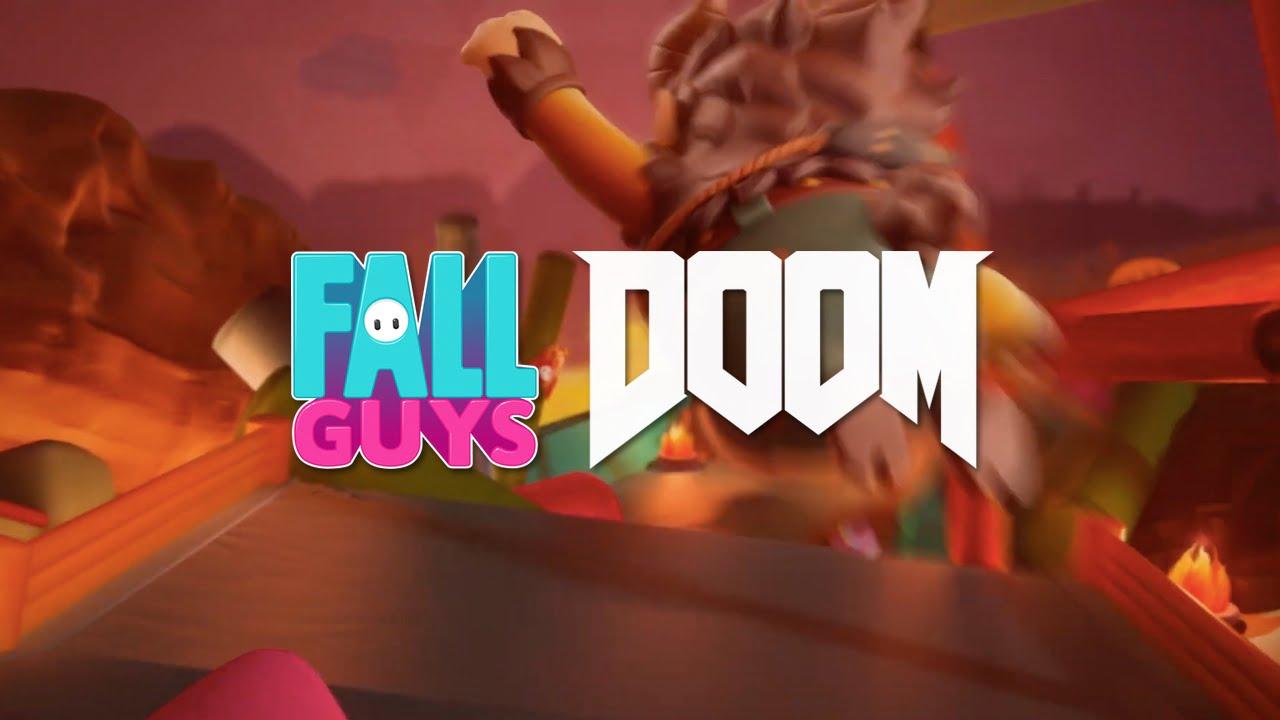 Fall Guys x Doom crossover